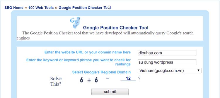 Google-Position-Checker-Tool